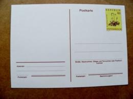 Postal Stationery Post Card Karte Austria Flora Flowers 1987 - Postwaardestukken