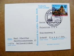 Postal Stationery Post Card Karte Austria Burg Groppenstein Castle Special Cancel 1986 Wien Aerogramme Aerogramm - Entiers Postaux
