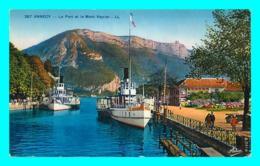 A734 / 145 74 - ANNECY Le Port Et Le Mont Veyrier ( Bateau ) - Annecy