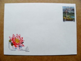 Postal Stationery Cover Austria Flora 1985 Landscape Mountains Flower - Entiers Postaux