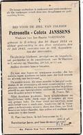 Everberg, 1942, Petronella Janssens, Vekemans - Images Religieuses