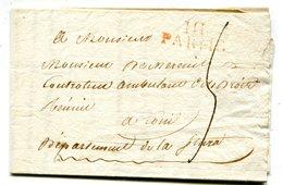 Dpt Du TARO Linéaire Rouge 111 PARME Sur LAC Du 6/10/1812 Taxée 5 Pour CONI - Storia Postale