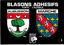 BLASONS ADHESIFS AUBUSSON -MARCHE  REF 61961 - Aubusson