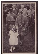 """DT- Reich (005800) Propaganda Sammelbild Deutschland Erwacht"""""""" Bild 204, Die Kleine Gratulantin - Deutschland"""