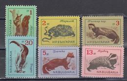 Bulgaria 1963 - Animals, Mi-Nr. 1377/82, MNH** - Bulgaria