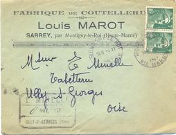 FABRIQUE DE COUTELLERIE LOUIS MAROT SARREY Par MONTIGNY-LE-ROI HAUTE MARNE TàD HOROPLAN Du 4-11-1947 - Bolli Manuali