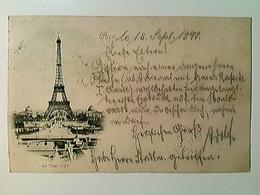 Paris, La Tour Eiffel, Eiffelturm, AK, Gelaufen 1897 - Frankreich