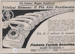 Cartoncino Della Ditta Siemens Sui Telefoni (Ritaglio) - Non Classificati