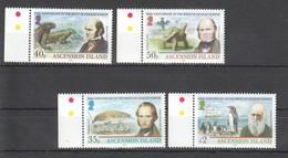 A861 2009 ASCENSION ISLAND FAUNA BIRDS REPTILES CHARLES DARWIN 1SET #1090-3 !!! MICHEL 13 EURO !!! MNH - Francobolli