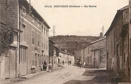 CPA 52 Haute Marne St Saint Urbain Rue Henrion (sic) Rue Du Hanvion ? - Maconcourt - France