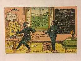 A071- WW2. HUMOUR MILITAIRE FRANÇAIS. RADIO TELEGRAPHISTES. - War 1914-18
