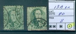 13A 2x Obl Côte 80.00€ - 1863-1864 Medaillen (13/16)