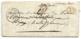 MARQUE POSTALE PUY LAURENS PECHAUDIER  TARN 1843 POUR SAINTE FOY PUIS TOULOUSE - 1801-1848: Vorläufer XIX