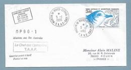 19 - TAAF- PO142 Du 5.1.1990 St PAUL -Cachets Du LOWLAND LANCER Et OP90.1 - Terres Australes Et Antarctiques Françaises (TAAF)