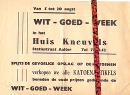 Pub Reclame - Katoenartikels Huis Kneuvels - Aalter Ca 1960 - Publicités