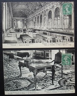 Versailles Cachet Congrès De La Paix 1919, Lot De 2 Cartes, Voir Photos - Storia Postale