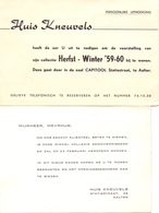 Pub Reclame - Katoenartikels Huis Kneuvels - Aalter Ca 1959 - 1960 - Publicités