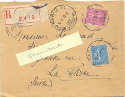 RECOMMANDÉ PARIS 71 PLACE VICTOR-HUGO  TàD HOROPLAN 10-11-1932 - Marcophilie (Lettres)