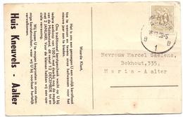 Pub Reclame - Postkaart Katoenartikels Huis Kneuvels - Aalter  1959 - Publicités