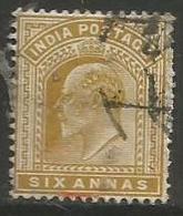 India - 1902 King Edward VII  6a Used - India (...-1947)