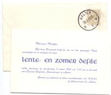 Pub Reclame - Uitnodiging Mode Defile  Katoenartikels Huis Kneuvels - Aalter  1960 - Publicités