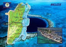 Belize Country Map New Postcard Landkarte AK - Belice