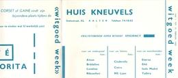 Pub Reclame - Katoenartikels Huis Kneuvels - Aalter  1960 - Publicités