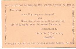 Pub Reclame - Kaart Solden Huis Kneuvels - Aalter  1960 - Publicités