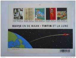België Belgique 2004 Kuifje En De Maan Tintin Et La Lune Hergé BF 109 3249-3253 Yv Bloc 99 3236-3240 MNH ** - Blocs 1962-....