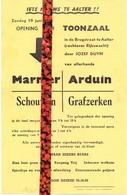 Pub Reclame - Opening Toonzaal Marmer Arduin Schouwen - Jozef Duym - Aalter  Ca1960 - Publicités