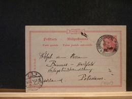 84/012  CP ALLEMAGNE OBL.  CONSTANTINOPEL  1893 POUR LA BELG. - Offices: Turkish Empire