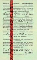 Pub Reclame Moto's Scooters Bromfietsen Leopold Otten & Zoon - Aalter Ca 1960 - Publicités