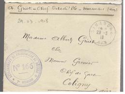 25090 - DETACHEMENT DE  P.G. * 7e REGION - Marcophilie (Lettres)