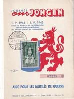 LUXEMBOURG 1945  CARTE AIDE AUX MUTILES DE GUERRE - Luxemburg