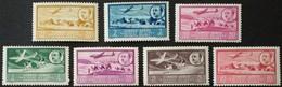 Africa Occidental: Año. 1951 - Av. 7/Val. Serie, CPTA. (Paisaje Y Efigie Del Gneral. Franco) Dent. 12-3/4 - Espagne