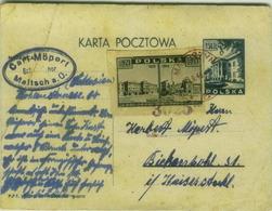 POLAND - KARTA POCZTOWA MAILED FROM MALOSZYN BY A. MOPERT MALTSCH - STAMP 6ZT 1939-1945 ( BG6220) - Poland