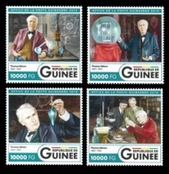 Guinee Thomas Edison Bulb Inventor 4v Set Michel:12001-12004 - Célébrités