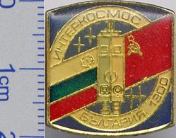 113 Space Soviet Russian Pin. INTERKOSMOS USSR-Bulgaria 1979 - Space