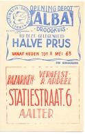 Pub Reclame - Droogkuis ALBA - Bazarken  Verhelst Ardeel - Aalter 1963 - Publicités