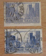 France - Timbre 10 Francs La Rochelle YT N°261 - 2 Variétés, 261b Et 261c - Oblitérés - France