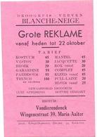 Pub Reclame - Droogkuis Blanche Neige - Vandierendonck Maria Aalter Ca 1963 - Publicités