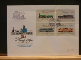 84/027   FDC  PORTUGAL - Trains