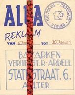 Pub Reclame - Droogkuis ALBA - Bazarken  Verhelst - Ardeel - Aalter 1963 - Publicités
