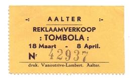 Lot Loterijbiljet Tombola Reklaamverkoop  - Aalter Ca 1960 - Billets De Loterie