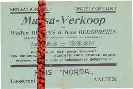 Pub Reclame - Dekens Bedspreien Huis Norda - Aalter Ca 1963 - Publicités