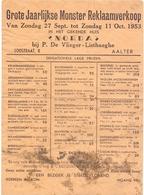 Pub Reclame -  Huis Norda - P. De Vlieger - Listhaeghe - Aalter 1953 - Publicités