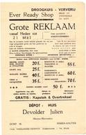 Pub Reclame - Droogkuis Ever Ready Shop - Julien Devolder - Maria Aalter - Ca 1960 - Publicités