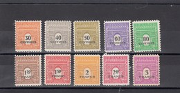 France - 1945 - N° YT 702/11** - Type Arc De Triomphe De 1944 - 1944-45 Arco Di Trionfo