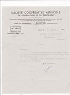 17-Société Coopérative Agricole De Distillation & De Stockage...Saintes  (Charente-Maritime)...1944 - France