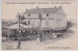 VITROLLES Près Rognac - Café Hôtel Restaurant Des Bains La Bernarde Eisenlohr Propriétaire - France